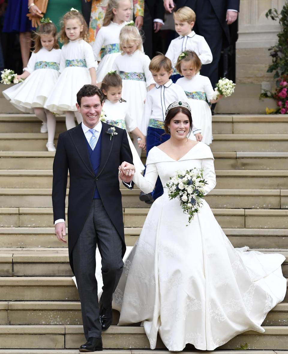 Princess Eugenie married Jack Brooksbank at St George's Chapel on Friday. Photo: Getty Images