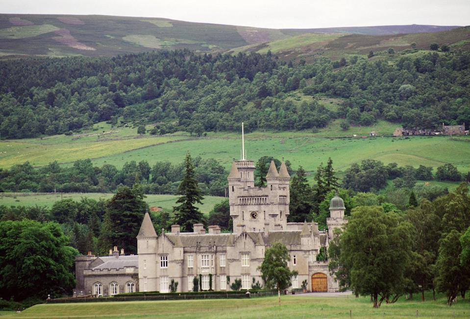 """<ul> <li><a href=""""http://www.balmoralcastle.com/location.htm"""" class=""""link rapid-noclick-resp"""" rel=""""nofollow noopener"""" target=""""_blank"""" data-ylk=""""slk:The estate is located in the Scottish countryside"""">The estate is located in the Scottish countryside</a>, about 50 miles from the city of Aberdeen, and spans approximately 50,000 acres.</li> <li>The current castle sits about 100 yards away from where the original castle stood. Although the original building was demolished, its former location is marked by a commemorative stone.</li> </ul>"""