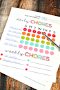 """<p>Make it easy to switch up their tasks from week to week with this colorful (and free!) printable chore chart for kids. </p><p><strong><em><a href=""""https://www.thirtyhandmadedays.com/printable_chore_chart/"""" rel=""""nofollow noopener"""" target=""""_blank"""" data-ylk=""""slk:Get the printable at Thirty Handmade Days."""" class=""""link rapid-noclick-resp"""">Get the printable at Thirty Handmade Days.</a></em></strong></p>"""