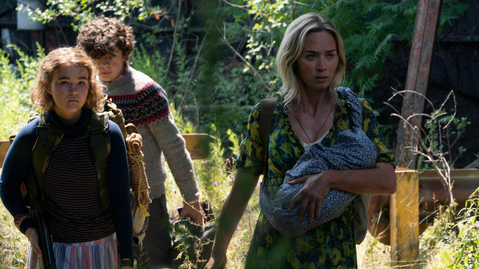 Emily Blunt leads a family of survivors in 'A Quiet Place Part II'. (Credit: Paramount)