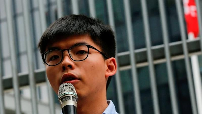The 23-year-old rose to prominence in the Umbrella Movement of 2014