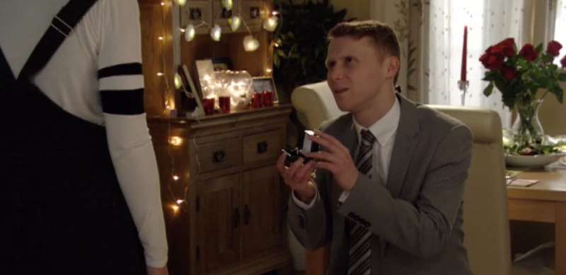 Lola is stunned as Jay asks her to marry him in EastEnders