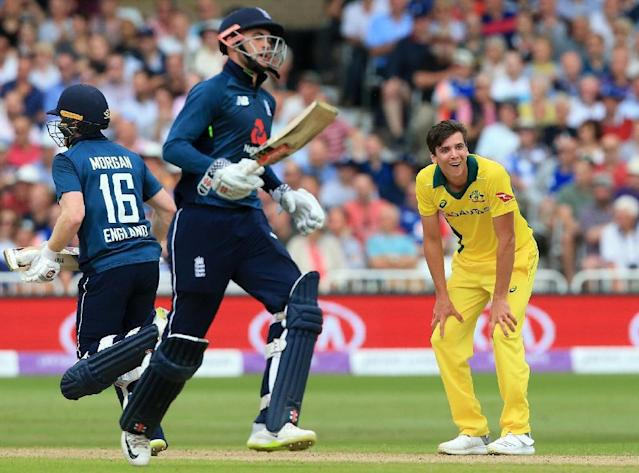 Alex Hales still thinks of himself as being on the fringes of the England one-day international team, even after a hundred that set-up a record-breaking win over world champions Australia (AFP Photo/Lindsey PARNABY)