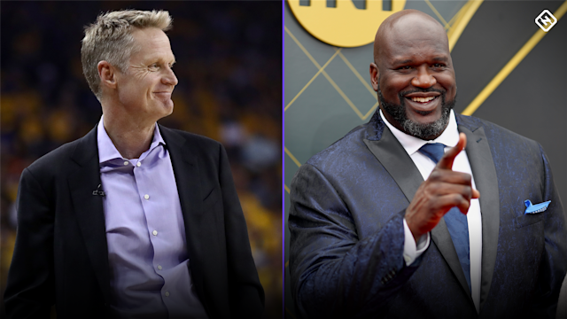 Warriors coach Steve Kerr took to Twitter to call out Shaq, and it lead to a hilarious exchange between the two.