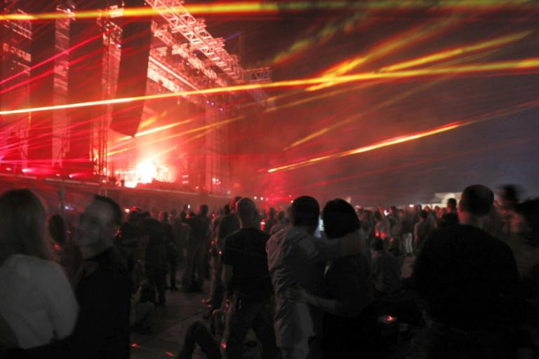 Jean-Michel Jarre's concert to raise awareness of the receding of the Dead Sea features his trademark elements like lasers, smoke and giant screens