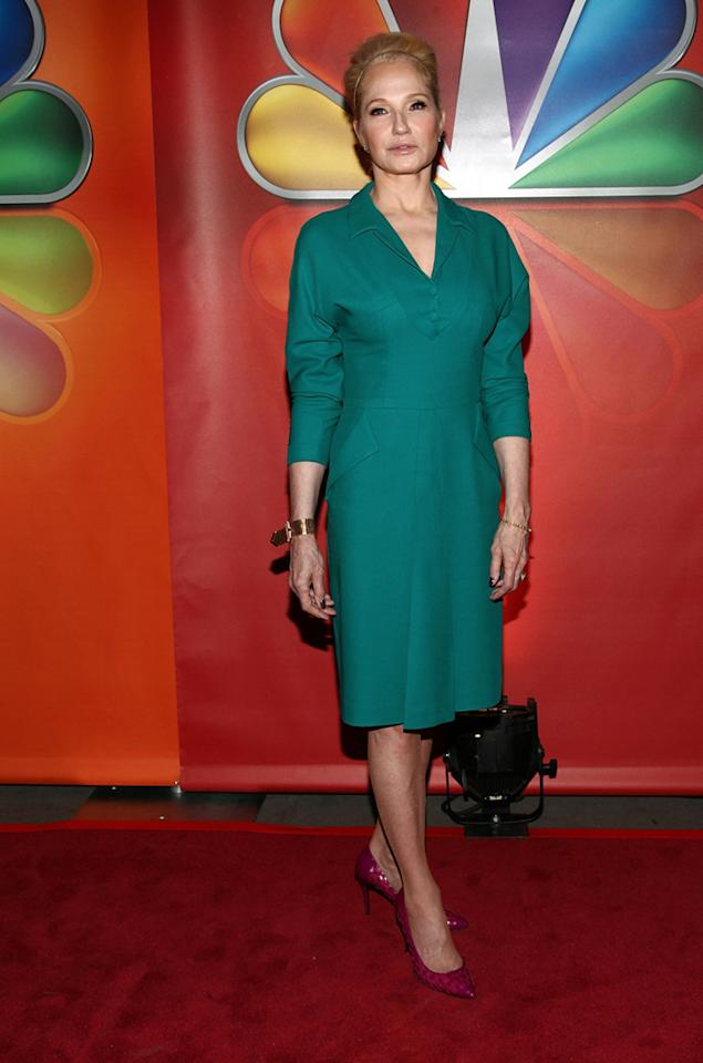 "Ellen Barkin (""The New Normal"") attends NBC's 2012 Upfront Presentation at 51st Street on May 14, 2012 in New York City."