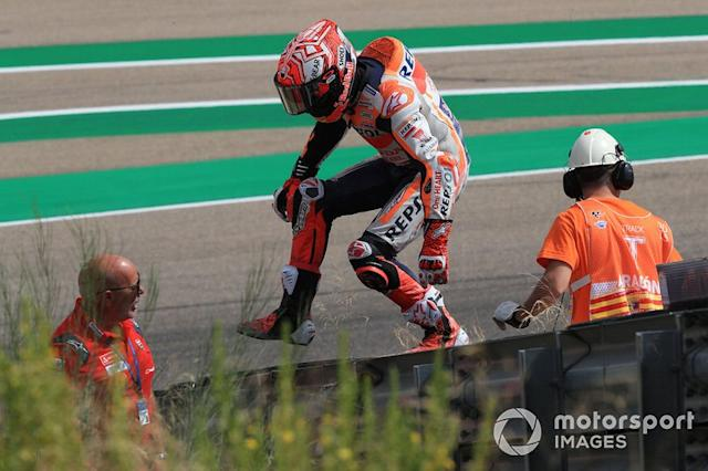 "Marc Márquez, Repsol Honda Team tras su caída <span class=""copyright"">Gold and Goose / Motorsport Images</span>"