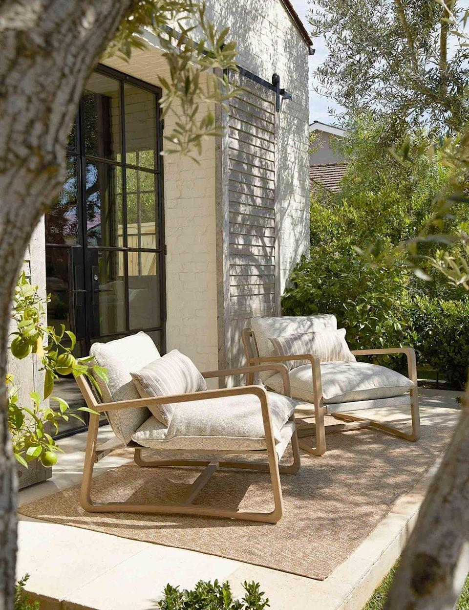 <p>We're obsessed with everything abut this <span>Lulu and Georgia Nunelle Indoor / Outdoor Accent Chair</span> ($1,199).</p>