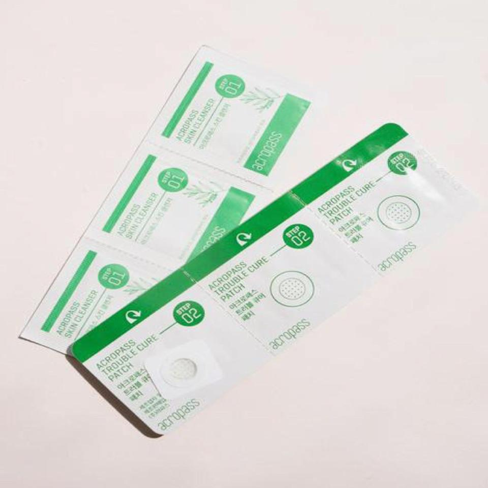 "These pimple patches are a two-step process: First you use a tea tree oil– and salicylic acid–drenched wipe to sanitize your zit, then you stick on the patch. What differentiates these patches from the rest is that they've got tiny microneedles filled with hyaluronic acid (to help hydrate) and niacinamide (to brighten and soothe). $18, Acropass Trouble Cure. <a href=""https://sokoglam.com/products/acropass-trouble-cure?variant=2438181224457&currency=USD&utm_source=google&utm_medium=cpc&utm_campaign=google+shopping&utm_source=google&utm_medium=pla&utm_campaign=newengen+-+Smart+Shopping+1910&utm_term=pla-293946777986&gclid=EAIaIQobChMI28awk_qj5QIVGqSzCh0xPAGrEAQYByABEgLDNPD_BwE"">Get it now!</a>"