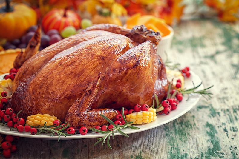 If you want your turkey to taste good, don't use a pop-up turkey timer.  (circlePS via Getty Images)