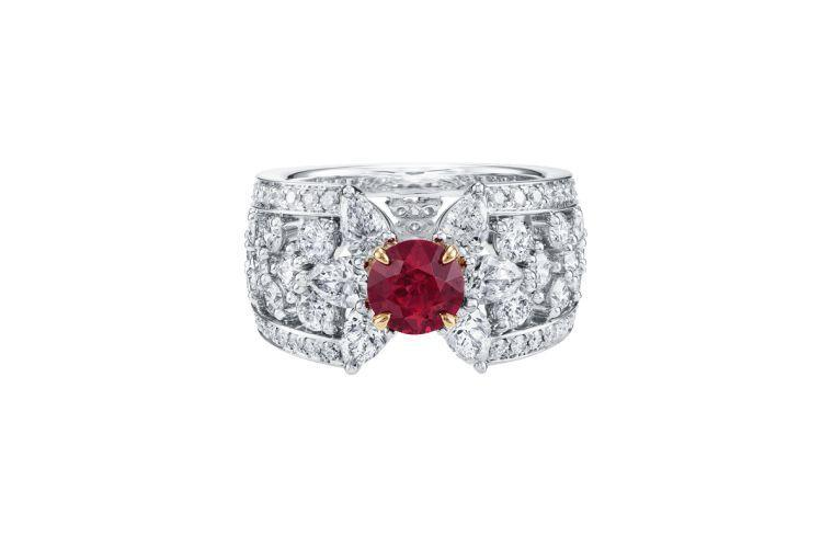"<p>Anchored in 125 pear-shaped diamonds, this round brilliant ruby ring is for the bride who isn't afraid of bling, and values the look and feel of a stack of bands more than a large center stone.</p><p><em>Diamond rand ruby ring set in platinum, price upon request, <a href=""https://www.harrywinston.com/en"" rel=""nofollow noopener"" target=""_blank"" data-ylk=""slk:harrywinston.com"" class=""link rapid-noclick-resp"">harrywinston.com</a>.</em></p><p><a class=""link rapid-noclick-resp"" href=""https://www.harrywinston.com/en/ruby-and-diamond-ring"" rel=""nofollow noopener"" target=""_blank"" data-ylk=""slk:SHOP"">SHOP</a></p>"