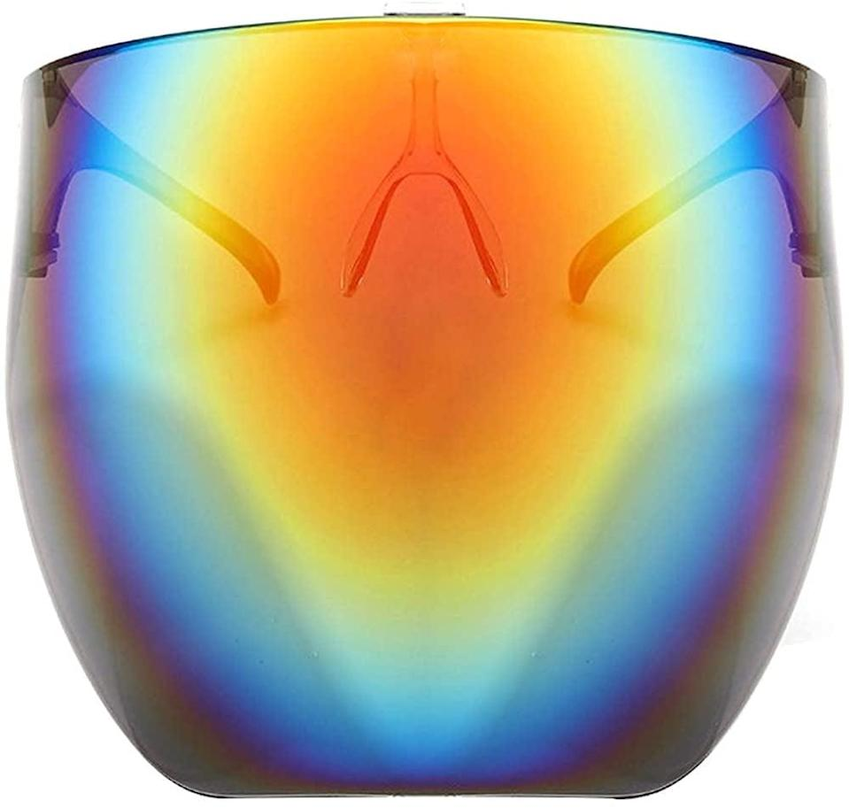 <p>These <span>Futuristic Oversized Sun Shield Sunglasses </span> ($23) will bring your fashion game to the year 3000. </p>