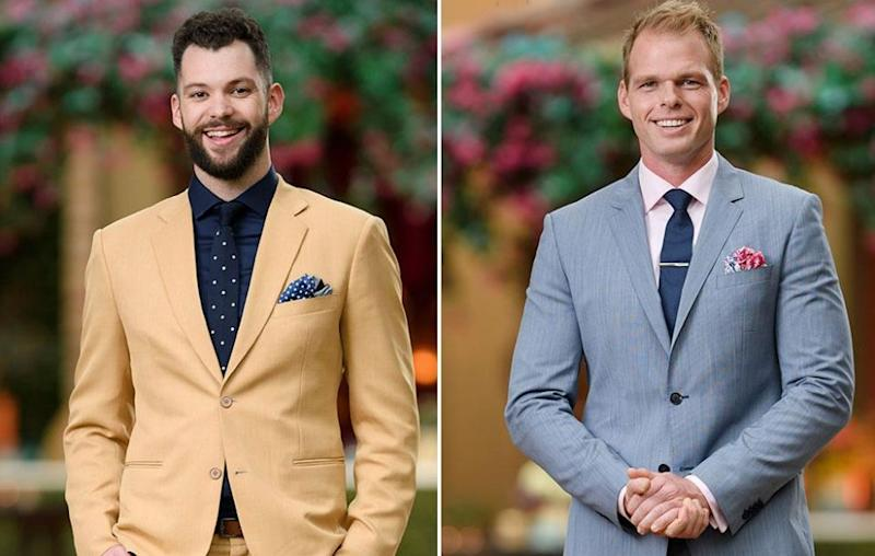 The Bachelorette's Hayden (L) says Jarrod (R) is beyond a stage-five clinger. Source: Channel Ten