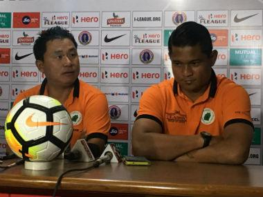 NEROCA manager Giftrai Khan during his team's press conference.
