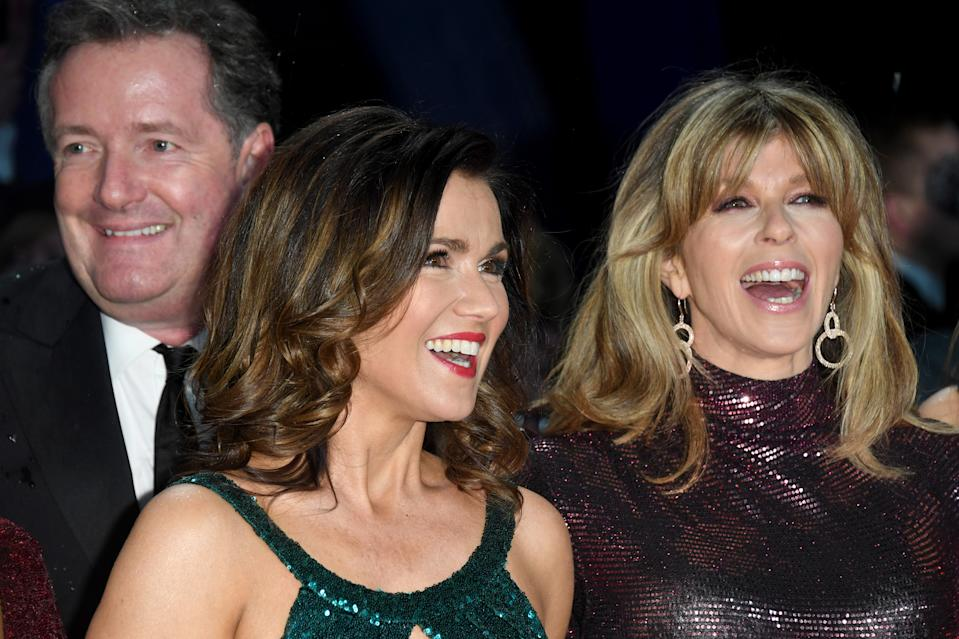 Piers Morgan, Susanna Reid and Kate Garraway attend the National Television Awards held at the O2 Arena on January 22, 2019 in London, England. (Photo by Stuart C. Wilson/Getty Images)