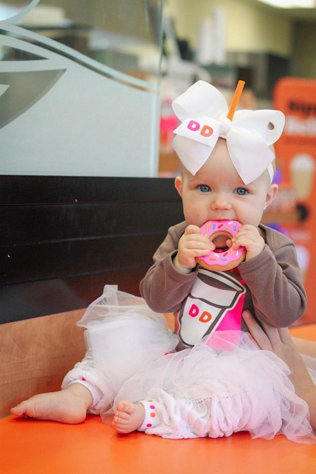 "<p>$42</p><p><a rel=""nofollow"" href=""https://www.etsy.com/listing/617394868/baby-tutu-costume-infant-girl-coffee"">SHOP NOW</a></p><p>Pay homage to your favorite source of energy in the form of your kid's Halloween costume. The donut teething ring is the cherry on top.</p>"