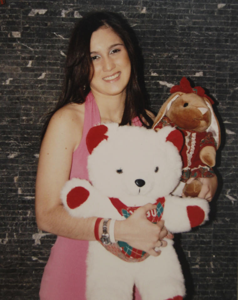 In this undated family album photo provided by the Flores family, 21-year-old Stephany Flores poses holding stuffed animals. Flores was found death at a hotel room late Tuesday June 1, 2010. Chilean police flew Dutch murder suspect Joran van der Sloot to Peru on Friday to face charges in Flores' slaying. (AP  Photo)