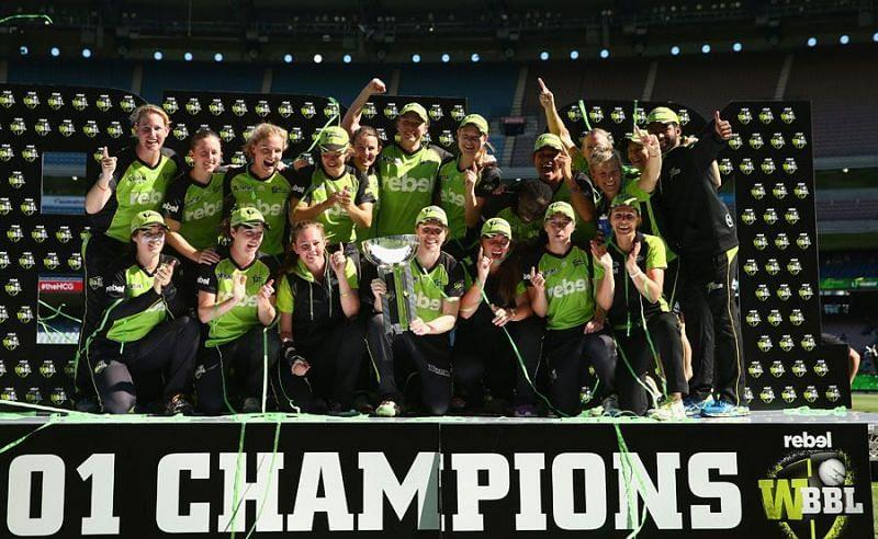 Sydney Thunder were the champions in the inaugural edition of the WBBL.
