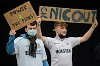 Tottenham Hotspur fans demonstrated against the club's ownership