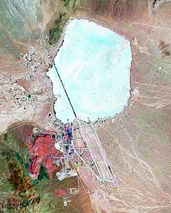 Satellite image of the top secret military base in the Nevada desert (Wikipedia)