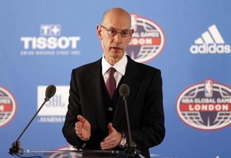 Britain Basketball - Denver Nuggets v Indiana Pacers - NBA Global Games London 2017 - The 02 Arena, London, England - 12/1/17 NBA Commissioner Adam Silver during the press conference ahead of the game Reuters / Matthew Childs Livepic