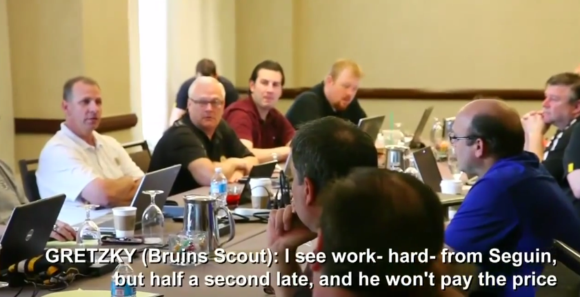 Watch Peter Chiarelli and Bruins staff make decision to deal Tyler Seguin (Video)