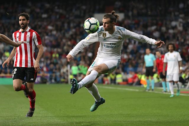 Soccer Football - La Liga Santander - Real Madrid vs Athletic Bilbao - Santiago Bernabeu, Madrid, Spain - April 18, 2018 Real Madrid's Gareth Bale in action REUTERS/Susana Vera