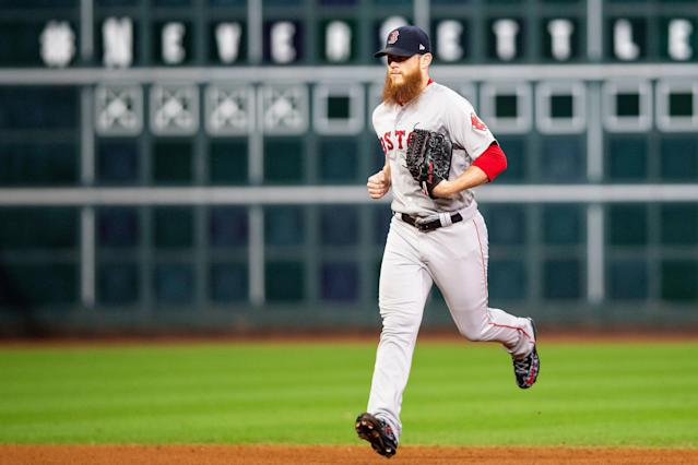 Relief pitcher Craig Kimbrel has agreed to a deal with the Chicago Cubs. (Getty Images)