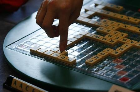 Players play scrabble at 2011 World Scrabble Championship in Warsaw