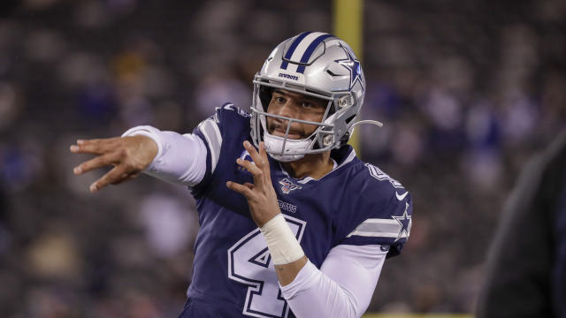 Dallas Cowboys quarterback Dak Prescott (4) remains unsigned. (AP Photo/Adam Hunger)