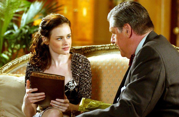Alexis Bledel and Edward Herrmann (Credit: Everett Collection)