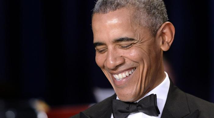 <p>President Obama attends the White House Correspondents' Dinner, April 30. <i>(Photo: Olivier Douliery-Pool/Getty Images)</i></p>