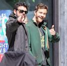 <p>Karl Urban and Jack Quaid are spotted filming <i>The Boys</i> in Toronto on June 3 in Toronto. </p>
