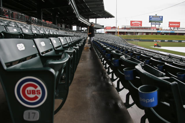 """Fifteen MLB teams, including the <a class=""""link rapid-noclick-resp"""" href=""""/mlb/teams/chi-cubs/"""" data-ylk=""""slk:Chicago Cubs"""">Chicago Cubs</a>, call Arizona home during spring training. (AP Photo/Sue Ogrocki)"""
