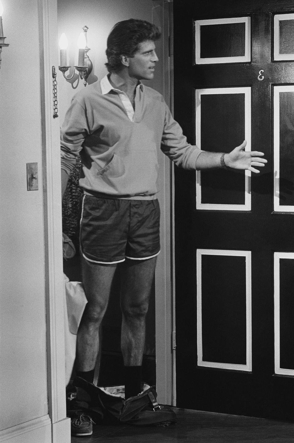 <p>Danson, in an episode of <em>Cheers</em>, shows off how to wear shorts as underpants while making a memorable (and borderline creepy) entrance. </p>