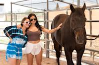 """<p><strong>Location:</strong> Tuscon, Arizona</p> <p><em>Modern Family'</em>s Ariel Winter took advantage of the equestrian activities on offer at <a href=""""http://www.miravalresorts.com/"""" rel=""""nofollow noopener"""" target=""""_blank"""" data-ylk=""""slk:Miraval Resort and Spa"""" class=""""link rapid-noclick-resp"""">Miraval Resort and Spa</a>. The desert destination also counts Lupita Nyong'o and Ellen DeGeneres and Portia de Rossi among its fans.</p>"""