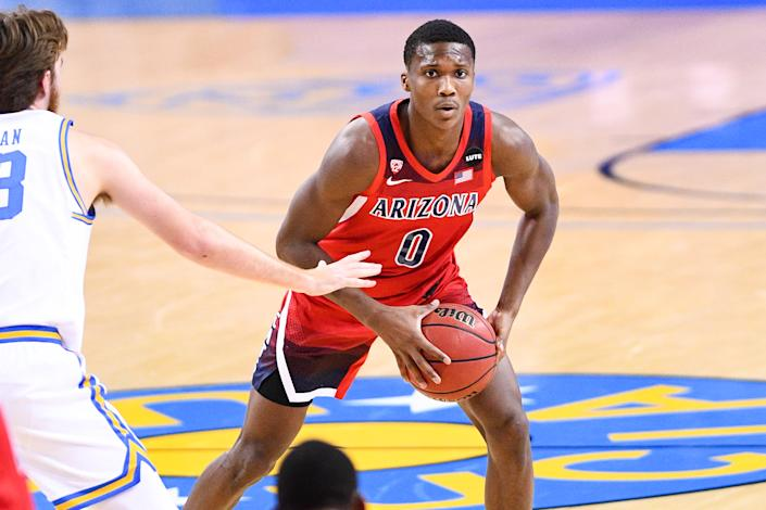 Bennedict Mathurin is a player to watch this coming college basketball season. (Brian Rothmuller/Icon Sportswire via Getty Images)
