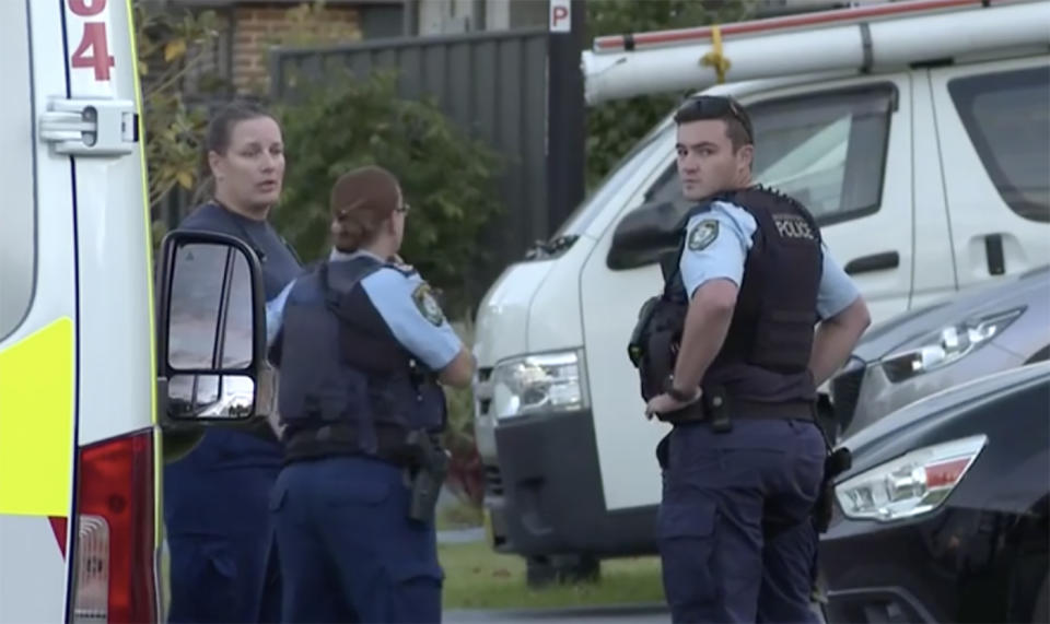 Police outside an Oran Park home.