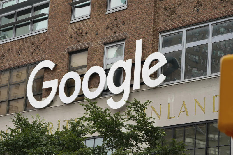 Photo by: John Nacion/STAR MAX/IPx 2020 7/30/20 A view of Google Headquarter's as New York City enters Phase 4 of re-opening following restrictions imposed to slow the spread of coronavirus on July 30, 2020 in New York City. The fourth phase allows outdoor arts and entertainment, sporting events without fans and media production. Google CEO Sundar PichaiTells Congress Google Is Not Working with the Chinese Military.