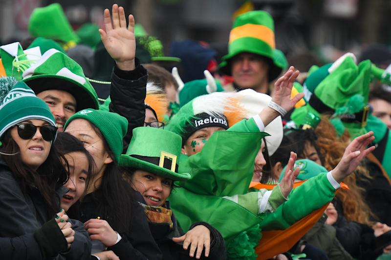 Participants during St Patrick's Day Parade 2019 in Dublin's city center. On Sunday, March 17, 2019, in Dublin, Ireland. (Photo by Artur Widak/NurPhoto via Getty Images)