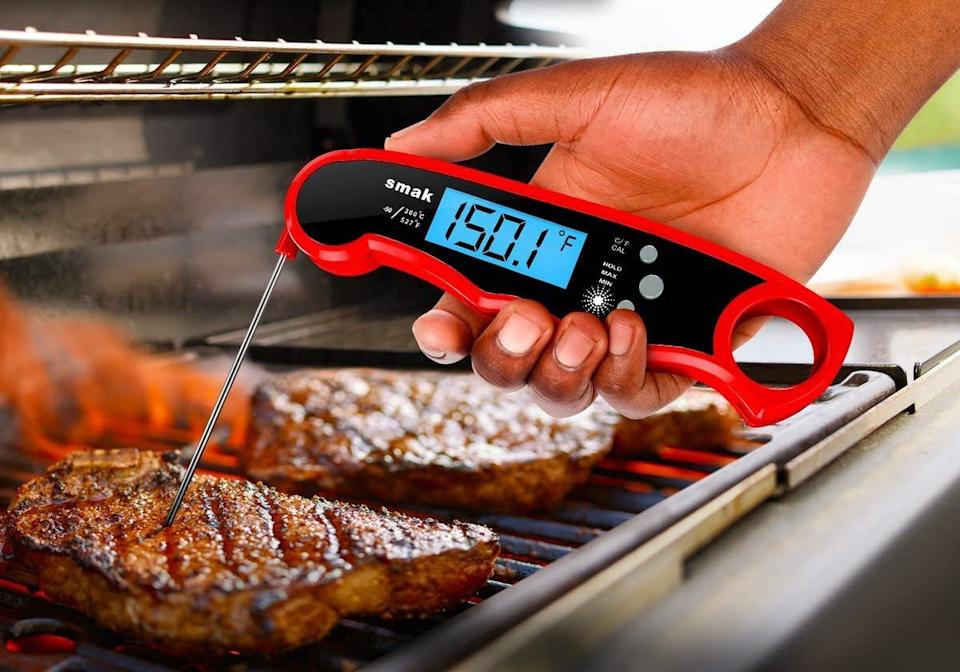 Smak Digital Instant Read Meat Thermometer is on sale for just $16. Image via Amazon.