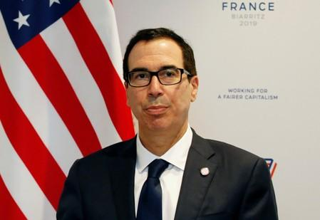 U.S. does not intend to intervene in currency markets for now, Mnuchin tells Bloomberg