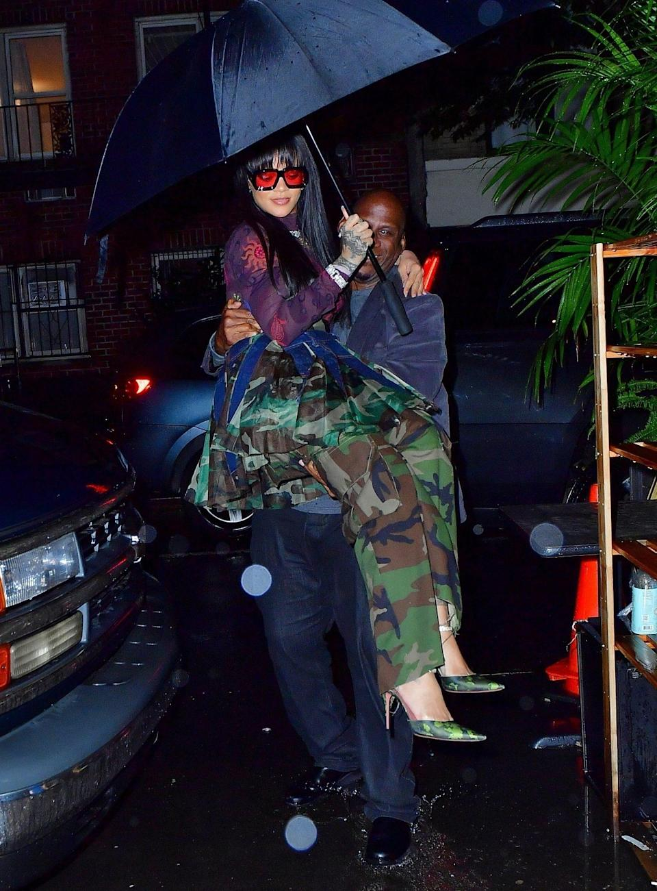 <p>Rihanna arrives in style to a party in New York City on Sept. 24 following her Savage X Fenty Show Vol. 3. </p>