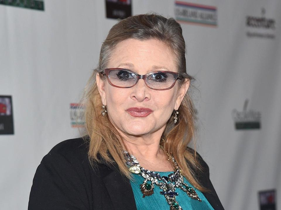 The majority of Carrie Fisher's end credit thank yous have been received posthumouslyGetty Images