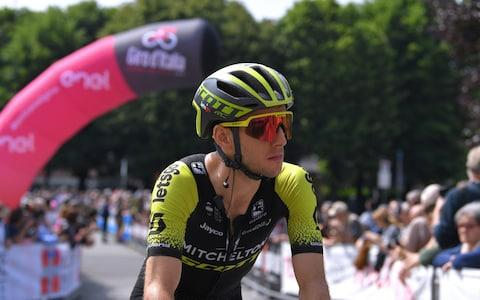 Start / Simon Yates of United Kingdom and Team Mitchelton - Scott / Pinerolo City / during the 102nd Giro d'Italia 2019, Stage 13 a 196km stage from Pinerolo to Ceresole Reale (Lago Serrù) 2247m / on May 24, 2019 in Pinerolo, Italy. - Credit: Velo