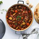 """<p>Similar to a panackelty, or tatey pot, or pan aggie, or pan haggerty (wherever you're from in the Northeast), this corned beef stew is, outrageously salty, brimming with cubes of meat, great-tasting veg, and lots of beef stock. </p><p>Get the <a href=""""https://www.delish.com/uk/cooking/recipes/a36445895/corned-beef-stew/"""" rel=""""nofollow noopener"""" target=""""_blank"""" data-ylk=""""slk:Corned Beef Stew"""" class=""""link rapid-noclick-resp"""">Corned Beef Stew</a> recipe.</p>"""