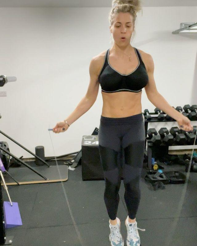 """<p>The <a href=""""https://www.womenshealthmag.com/uk/fitness/workouts/a29085546/skipping-rope-benefits/"""" rel=""""nofollow noopener"""" target=""""_blank"""" data-ylk=""""slk:benefits of skipping"""" class=""""link rapid-noclick-resp"""">benefits of skipping</a> are numerous – it's a great <a href=""""https://www.womenshealthmag.com/uk/fitness/running/g27125112/cardio-home-workouts/"""" rel=""""nofollow noopener"""" target=""""_blank"""" data-ylk=""""slk:cardio workout"""" class=""""link rapid-noclick-resp"""">cardio workout</a>, a cheap bit of kit and can be done almost anywhere there's enough room to swing a rope. </p><p><strong>RELATED: </strong><a href=""""https://www.womenshealthmag.com/uk/fitness/workouts/a708281/skipping-workout/"""" rel=""""nofollow noopener"""" target=""""_blank"""" data-ylk=""""slk:11 skipping workouts"""" class=""""link rapid-noclick-resp"""">11 skipping workouts</a> to get your heart rate up and blood pumping.</p><p><a href=""""https://www.instagram.com/p/CIBQUJ2HV8F/"""" rel=""""nofollow noopener"""" target=""""_blank"""" data-ylk=""""slk:See the original post on Instagram"""" class=""""link rapid-noclick-resp"""">See the original post on Instagram</a></p>"""
