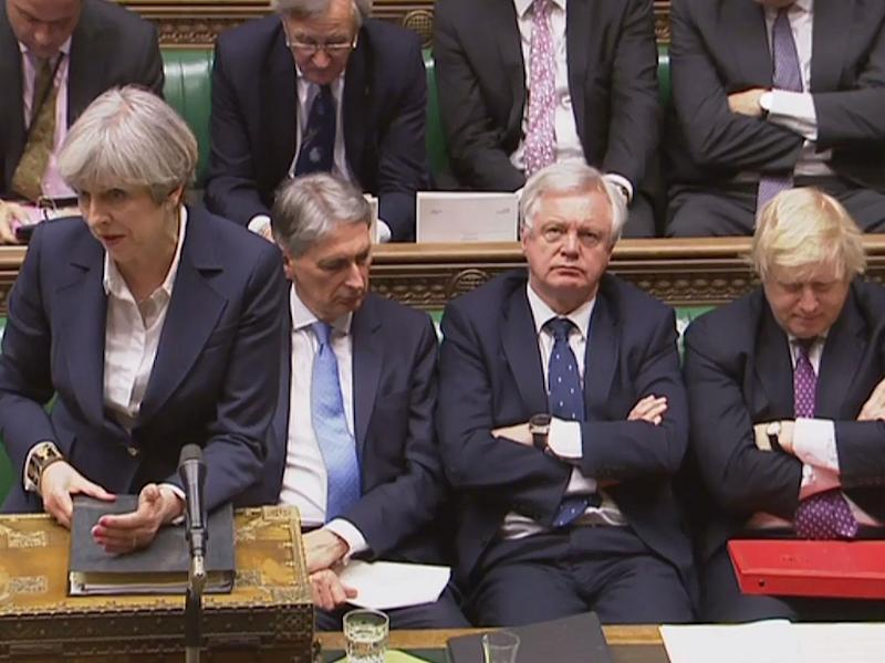 From left to right: Remain, Remain, Leave, Leave. The people who must now 'unite Britain': AFP/Getty