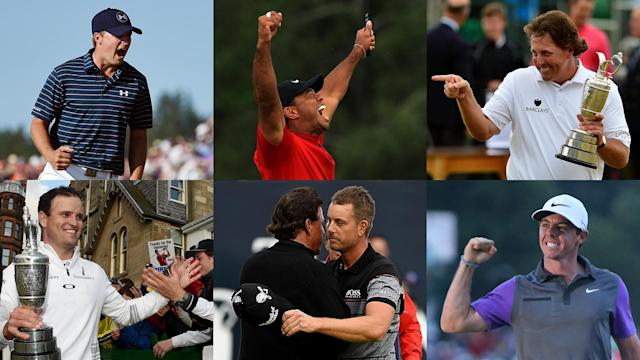 When the claret jug is lifted this weekend along the Irish coastline, another decade of majors will come to a close. Here are the 10 best from the last 10 years.
