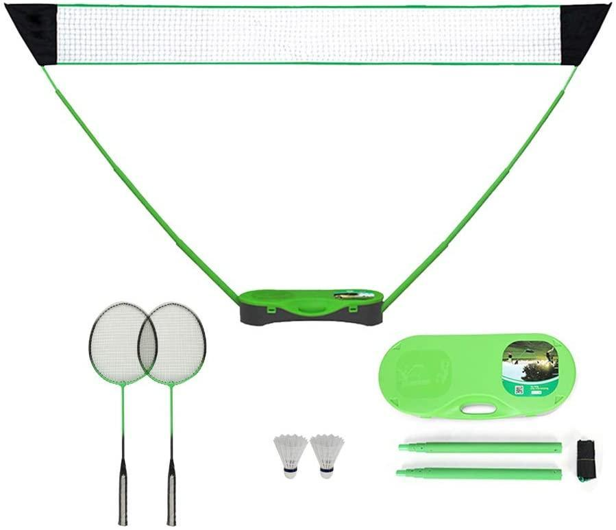 "<h3><a href=""https://amzn.to/3fxRTq8"" rel=""nofollow noopener"" target=""_blank"" data-ylk=""slk:FBSPORT Portable Badminton Net Set"" class=""link rapid-noclick-resp"">FBSPORT Portable Badminton Net Set</a></h3> <br>Set up and take down your badminton game in just under five minutes, with no stakes or tools required. This portable 10-ft. net, complete with badminton rackets, shuttlecocks, and a storage box base, means team-sport action is just a few seconds away. <br><br><strong>FBSPORT</strong> Portable Badminton Net Set, $, available at <a href=""https://amzn.to/3jezJfp"" rel=""nofollow noopener"" target=""_blank"" data-ylk=""slk:Amazon"" class=""link rapid-noclick-resp"">Amazon</a><br>"